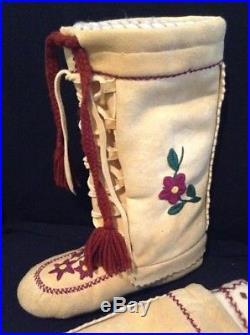 Cree Mukluks - Moose Hide - Hand Made Canada