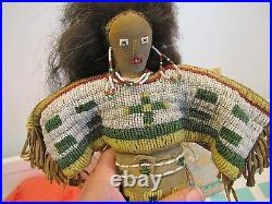 Crow Doll, Human Hair Beaded Dress, Boots, Upper Blouse, Seen On The Road Show