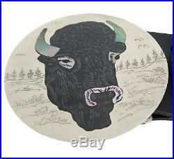 Dale Edaakie, Concho Belt, Large Animals, Multi Stone Inlay, Zuni Made, 45 1/2'