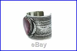 Delayne Reeves, Heart Bracelet, Purple Spiny Oyster Shell, Navajo Made, 6.75
