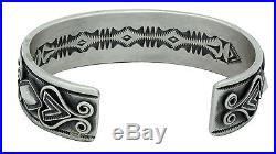 Derrick Gordon, Bracelet, Chinese Turquoise, Row Design, Silver, Navajo Made, 6.5