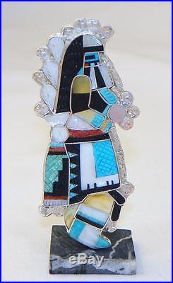 Eldred Martinezzuni Madesterlingcarved Inlayrain Dancer Kachina Pendant
