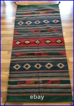 El Paso Saddle Blanket Co. 90%wool, 10%polyster Rug Made In India Rn#79791