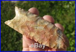 Flintridge Clovis Arrowhead found in Brown County Ohio made of Flintridge Flint