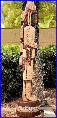 Gallagher 6' Wooden Cigar Store Indian The Scout Native American Made in USA