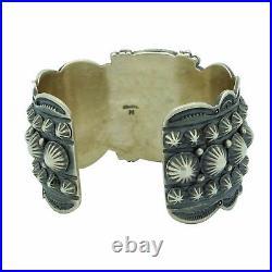 Gene Natan, Bracelet, Bumble Bee Jasper, Silver Buttons, Navajo Made, 6 3/4
