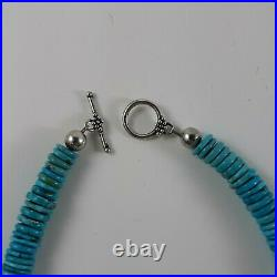 Genuine Navajo Made Necklace SALE SAT/SUN ONLY Turquoise Sterling Silver