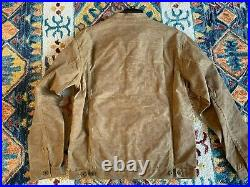 Ginew Waxed Canvas Rider Jacket, Native American, Made in USA, Men's Large, $365
