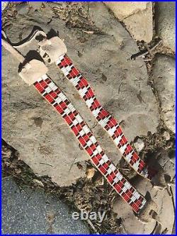 Glass Wampum Arm Bands Native American Made Pow Wow Regalia