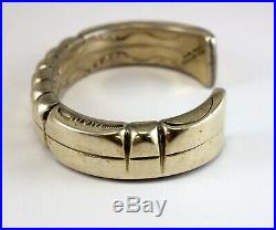 HUGE Sterling Silver Bracelet ORVILLE TSINNIE 230 GRAMS Custom Made XXL Chunky