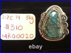 Hand Made, Men's Ring with Turquoise and Sterling Silver
