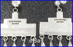 Hand Made Navajo Russ Rockbridge Rainclouds Large Earrings Sterling Chandelier