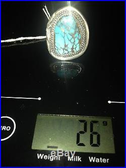 Hand Made, Sterling Silver and Arizona Turquoise Men's Ring
