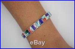 Handmade (Calvin Begay) Inlay Designed Bracelet VERY Intricately Made NAVAJO