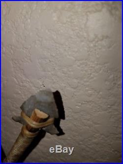Handmade Native American Indian Beaded Buckskin Made Bow and Arrows Wall Decor