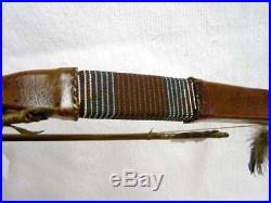Handmade Native American Navajo Made Rawhide Wrapped Bow and Arrow Set 44