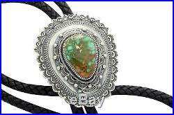 Hank Vandever, Bolo, Royston Turquoise, Old Style, Stamping, Navajo Made, 46