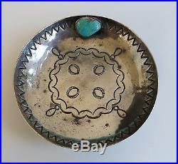 Indian Hand Made IHM Sterling Silver bowl Kee Joe Benally Navajo dish