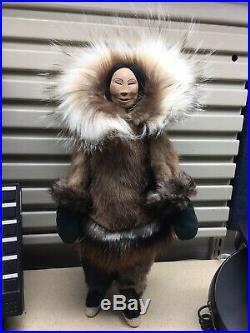 Inupiaq Eskimo Doll Made By Kathy Ward Of Kotzebue, Alaska