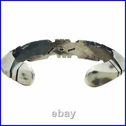 Jasper Nelson, Bracelet, Triangle Wire, Cuts, Old Style Finish, Navajo Made, 7