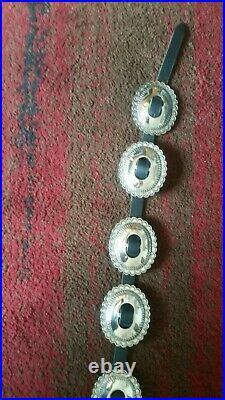 Jim Morrison Replica Native American Navajo-Made Silver Plated Conch Belt