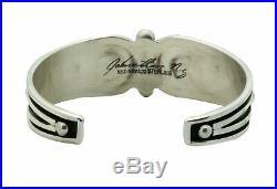 Jonathan Nez, Bracelet, Sterling Silver Drops, Wire Design, Navajo Made, 6.25