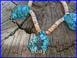 Kewa Necklace Santo Domingo Turquoise Nuggets Native Jewelry Hand Made Heishi