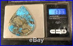 Large Navajo Sterling Silver Kingman Turquoise hand Made Pendant