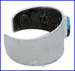 Lee Begay, Bracelet, Ithaca Peak Turquoise, Tufa Cast, Silver, Navajo Made, 6.25