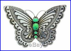 Lee Charley, Pin, Pendant, Butterfly, Gaspiete, Silver, Navajo Made, 2