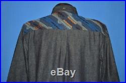 Levis Pendleton Denim Wool Jacquard USA Made Native American Print Shirt Med M