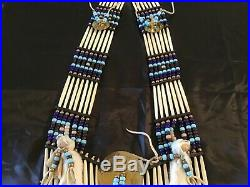 Lot# 1555 Native American made beaded / pipe chest plate