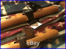 Lot Of 3 Hand Made Native American Wooden Flutes Bass D, High D, A, Instruction