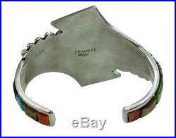 Melvin Francis, Eugene Chee, Bracelet, Multi Stone Inlay, Silver, Navajo Made, 6.5