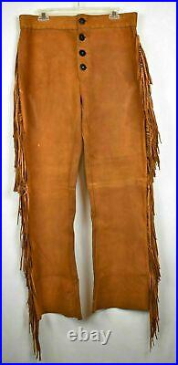 Men's Native American& Mountain Hand Made Cow Suede Leather Jacket & Pant Fringe
