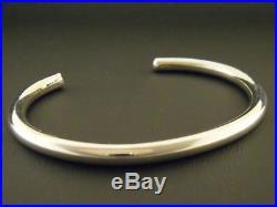 Mens Large Sterling Silver Bracelet Native American Made 7 1/2 8+ wrist