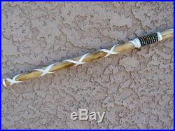 NATIVE American MADE NAVAJO TRADITIONAL Ceremonial SHORT SPEAR/LANCE WHITE 38