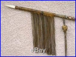 NATIVE American MADE Tohono Oodham Old Style War Lance and Spear 70 LONG