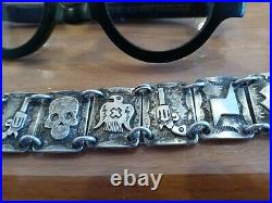 NAVAJO Awesome contemporary made signed bracelet Sterling known artist STAMPED