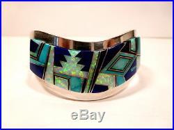 NAVAJO Hand made BRACELET Inlaid Multistones Edward Bencenti # ben814131