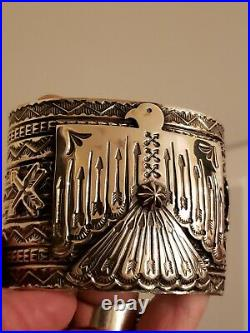 NA Sunshine Reeves hand-stamped sterling silver cuff. Custom made. Worn 3 times