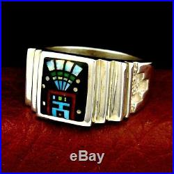 Native America Made Father Sky Headdress Men's Ring Size 12 - R14 E u