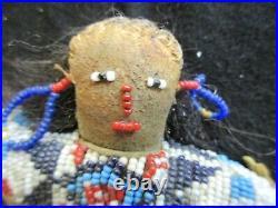 Native American Beaded Leather Doll, South Dakota Hand Made, Sd-062105585