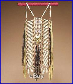 Native American Ceremonial BREASTPLATE BREAST PLATE 10 x 35 Tigua Indian Made