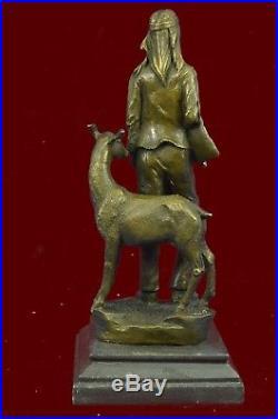 Native American Chief Spiritually Real Hand Made Figuri Bronze Sculpture Statue