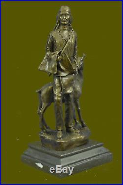 Native American Chief Spiritually Real Hand Made Figurine Sale Sculpture Statue