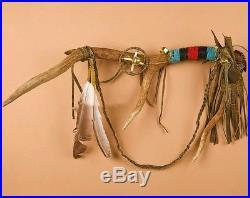 Native American HANDMade Elk Antler Shaman Medicine Shield Prayer Stick 25