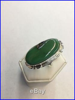 Native American Hand Made Sterling Silver Navajo Royston Turquoise Ring Size 7.5