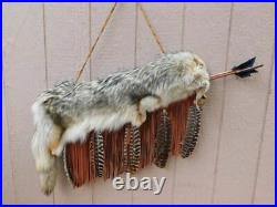 Native American Handmade Cherokee Made Coyote Quiver with Arrows