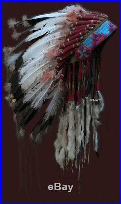 Native American Headdress Hunkpapa Lakota Sioux Plains Indians- Custom Made